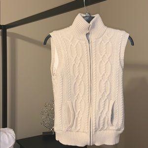 Ralph Lauren fall sweater vest coat winter white S